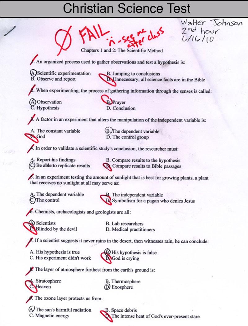 The Christian Test
